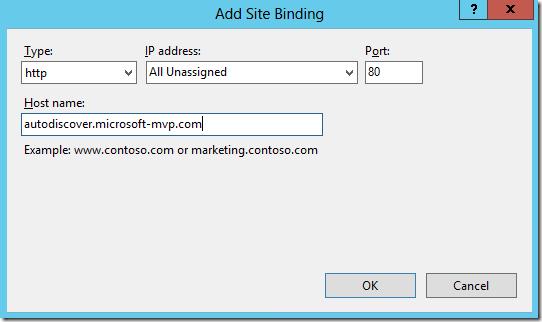 http binding iis