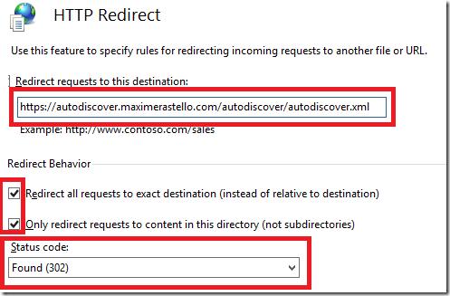redirection 302 iis