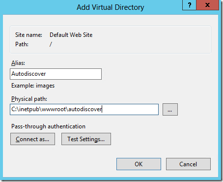 virtual directory iis