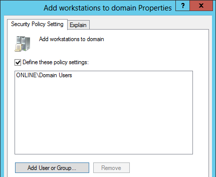 Add workstations to domain