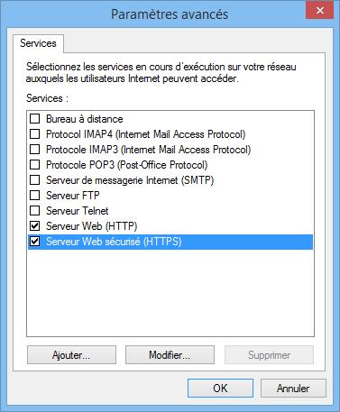 Partage HTTP et HTTPS