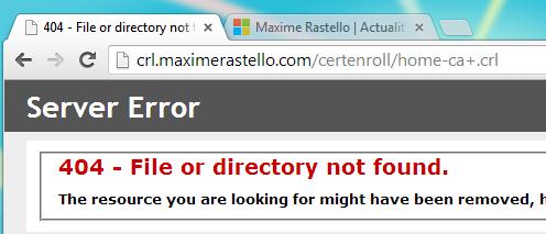 Erreur 404 - Caractère spécial URL IIS