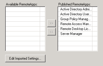 Applications RemoteApp UAG