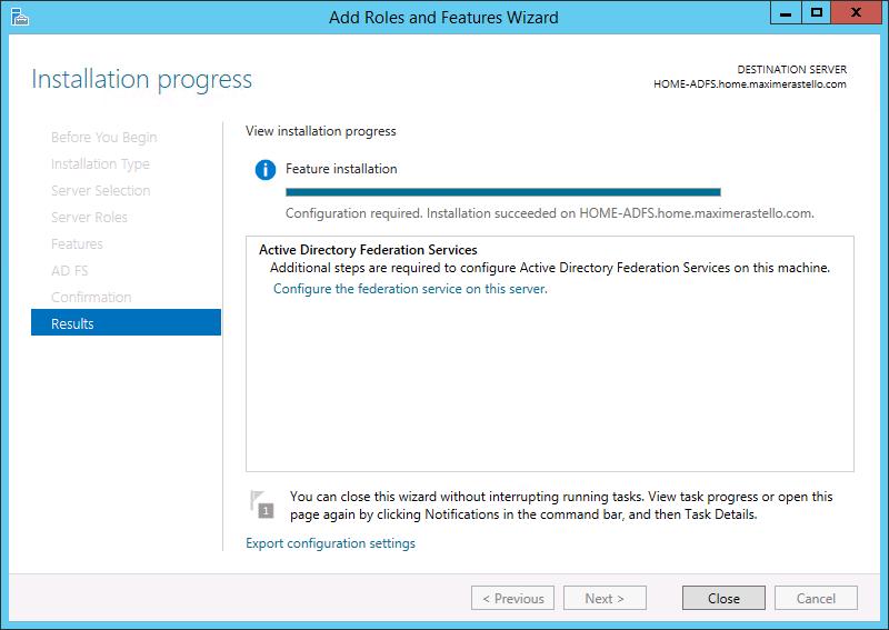 Configuration ADFS
