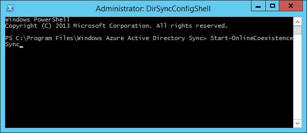 DirSync - Synchronisation manuelle