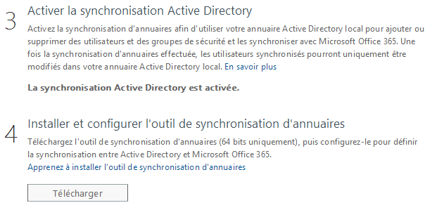 Synchronisation AD - Office 365