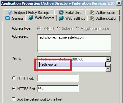 ADFS - Trunk adfs/portal