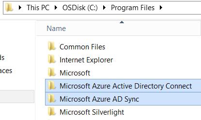 Azure AD Sync folders