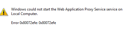 error web application proxy
