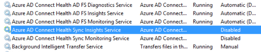 azure ad connect health services