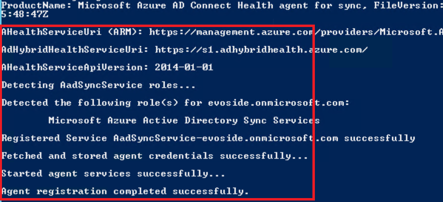 powershell azure ad connect health
